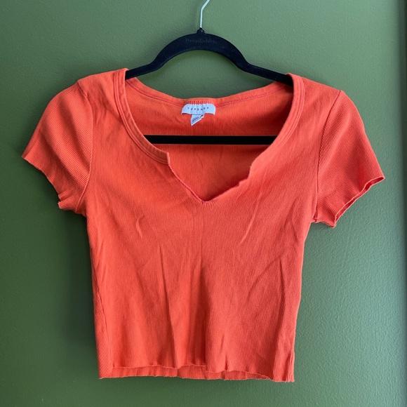 Orange topshop top